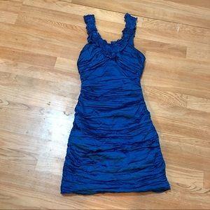 BCBG COCKTAIL DRESS BLUE SIZE 4